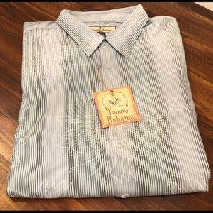 Tommy Bahama blue burton up shirt XL